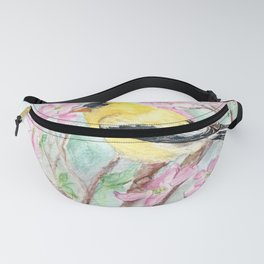 Goldfinch and Dogwood Flowers Fanny Pack