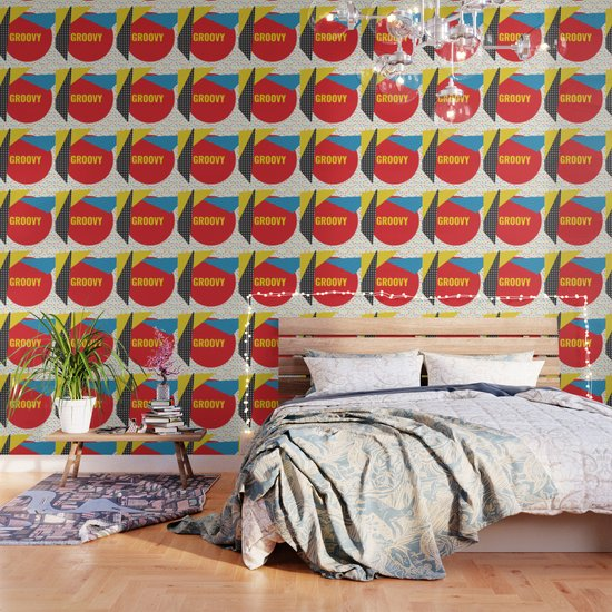 groovy color collage wallpaper