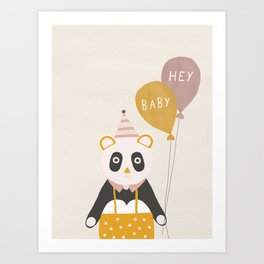 Hey Baby Panda Art Print