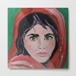 Afghani Girl Metal Print
