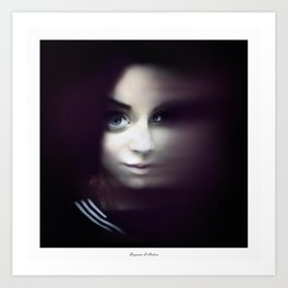 Portrait of Mia Makila Art Print