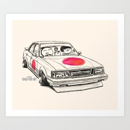 Crazy Car Art 0172 Art Print