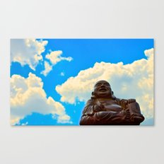 Happy Buddha on a Beautiful Day Canvas Print
