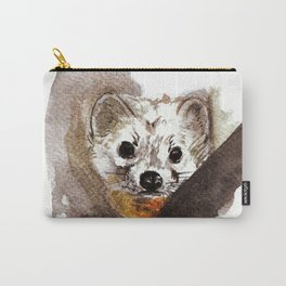 Japanese Marten in winter Carry-All Pouch