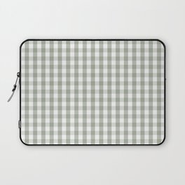 Desert Sage Grey Green and White Gingham Check Laptop Sleeve