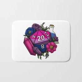 Pride Bisexual D20 Tabletop RPG Gaming Dice Bath Mat