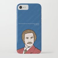 anchorman iPhone & iPod Cases featuring Ron Burgundy Anchorman  by Sheena White for Winsome Gallery