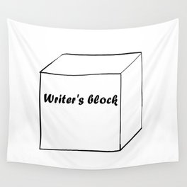 Funny Writer Gift: Writer's Block Print Wall Tapestry