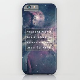 What Life Is All About - Doctor Who iPhone Case