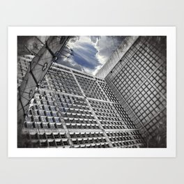 Arche de la Défense Paris [Sky cut N°421] France Art Print