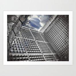 Arche de la Défense Paris [Sky cut N°421] France Art Print