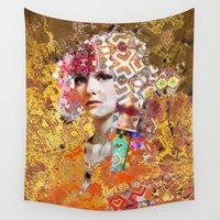 rose gold Wall Tapestries featuring Rose. Gold by Steve W Schwartz Art