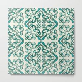 Turquoise Tiles Metal Print