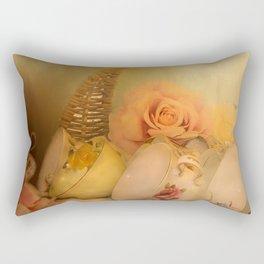 Teacups and Roses 3 Rectangular Pillow