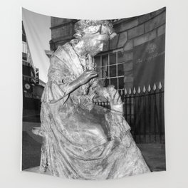 The Leics Seemstress Black And White Wall Tapestry