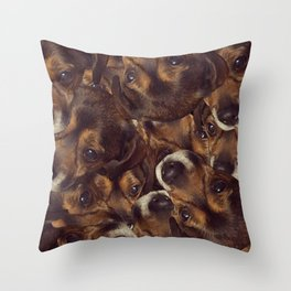 Borker collage Throw Pillow