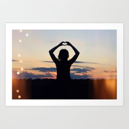 Love and Sunsets Art Print