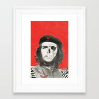 che Framed Art Prints featuring CHE by Lucas Schievenin
