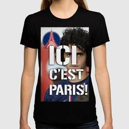 Ici c'est Paris! colors urban fashion culture Jacob's 1968 Paris Agency for Rabiot psg supporters T-shirt
