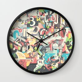 Cyrillic alphabet Wall Clock