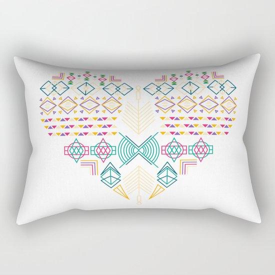 Aztec Heart Rectangular Pillow
