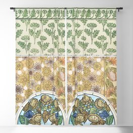 Chrysantheme (chrysanthemum) from La Plante et ses Applications ornementales (1896) illustrated by M Blackout Curtain