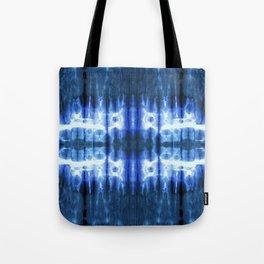 Lapis Shibori Stripe Tote Bag