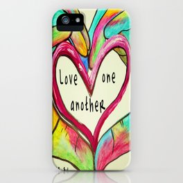 Love One Another John 13:34 iPhone Case