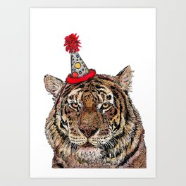 Tiger Party Art Print