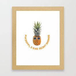Pineapple aka Agent Ananas Framed Art Print