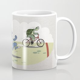 """Turtle and rabbit race"" Coffee Mug"