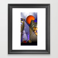 night in the city - abstract Framed Art Print