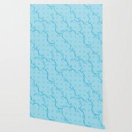 Handbag Heaven Blue - detail Wallpaper