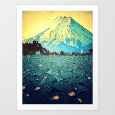 Waddling through Kennijo Lake Art Print