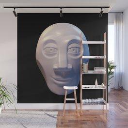 Alien-human hybrid head Wall Mural
