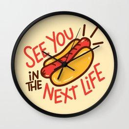 Eternal Hot Dog Wall Clock