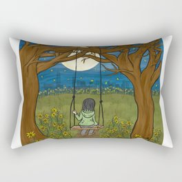 Moonlight City Rectangular Pillow