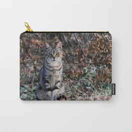 Sitting cat posing Carry-All Pouch