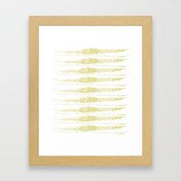 Golden Scribbles 1 Framed Art Print