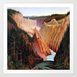 Grafton Tyler Brown Canyon River Art Print