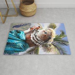 Funny Aloha Hawaiian Cat Rug