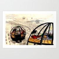 Escape Capsules  Art Print