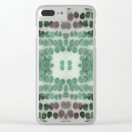 Sea Shell Disco Teal Clear iPhone Case