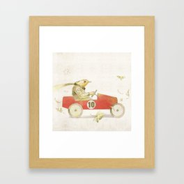 Bird runner Framed Art Print