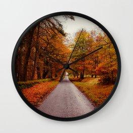 Autumn Road II Wall Clock