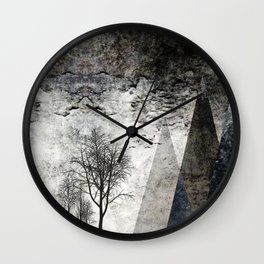TREES besides MAGIC MOUNTAINS I Wall Clock