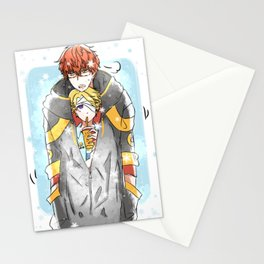 """Mystic Messenger - 707 & Yoosung """"sharing is caring"""" Stationery Cards"""