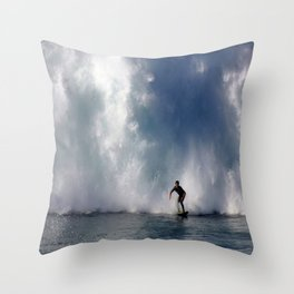 Surfing At The Wedge In Newport Beach, Califonia Throw Pillow