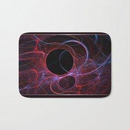 Neon Gravity Flame Fractal Bath Mat