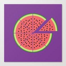 Watermelon Pizza Canvas Print